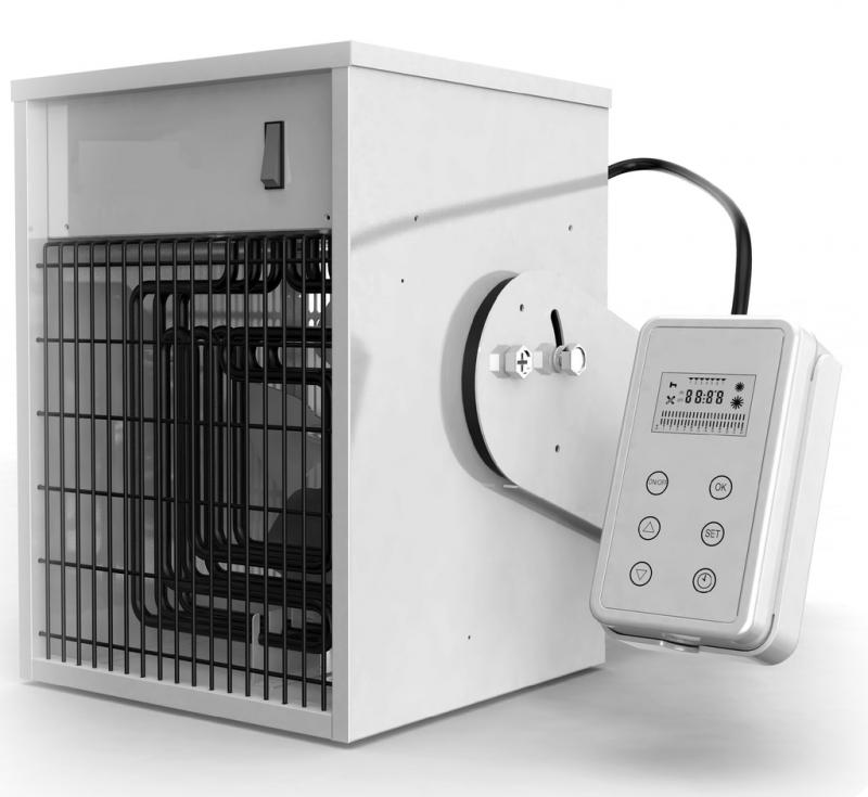 Incalzitor electric suspendat TR 3,  monofazat cu ventilator si telecomanda/cronotermostat digital