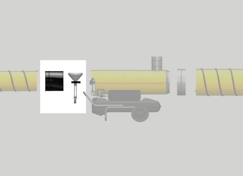 Kit conectare tubulatura 305mm pentru admisie BV110/BV170