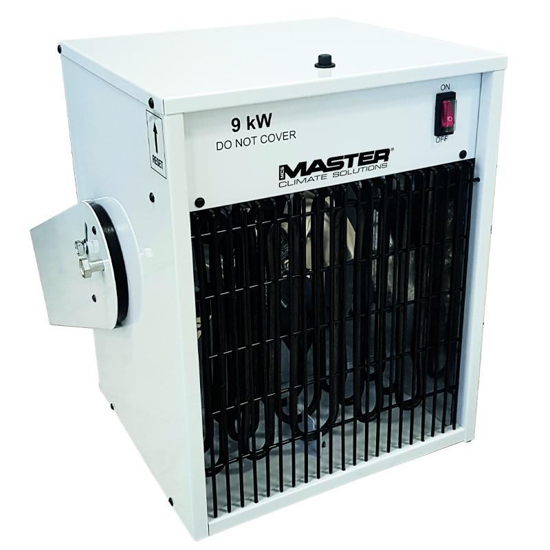 Incalzitor electric suspendat TR 9,  trifazat cu ventilator si telecomanda/cronotermostat digital